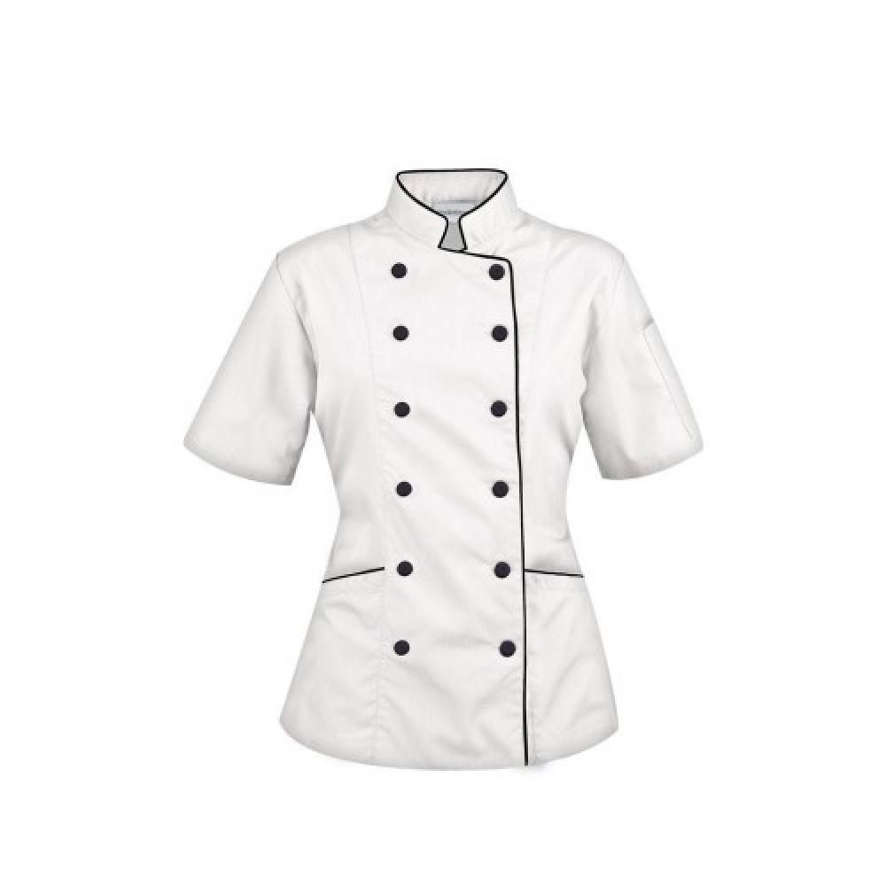 Beyaz Bayan Aşcı Ceket