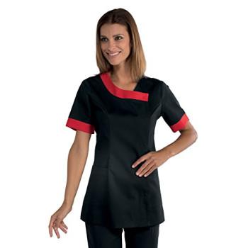 Estetisyen Siyah Kırmızı Takım